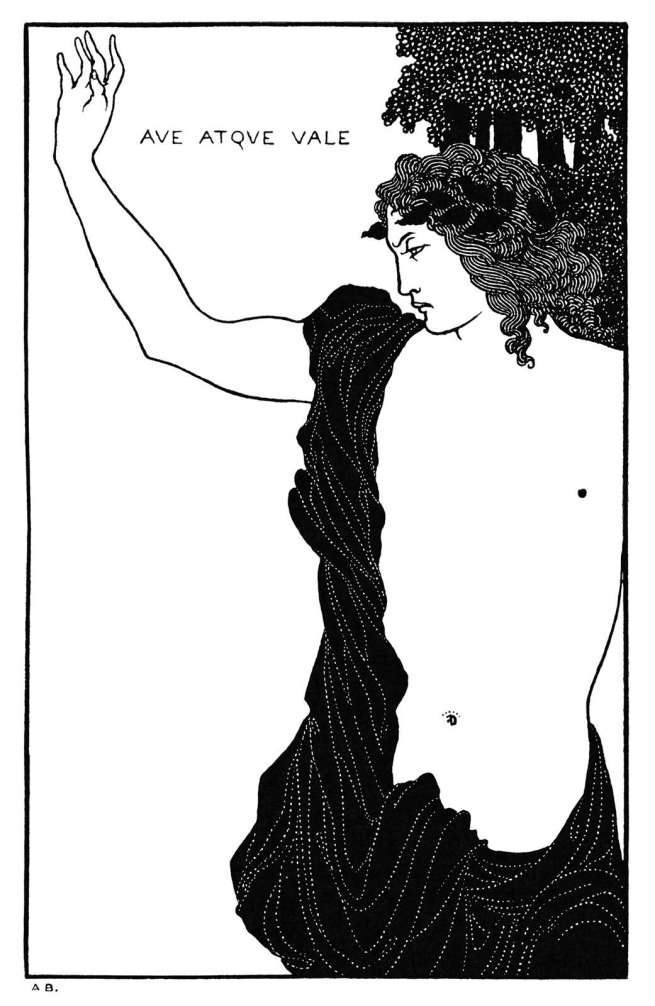 Aubrey Beardsley (British, 1872-1898) 'Ave Atque Vale' 1896