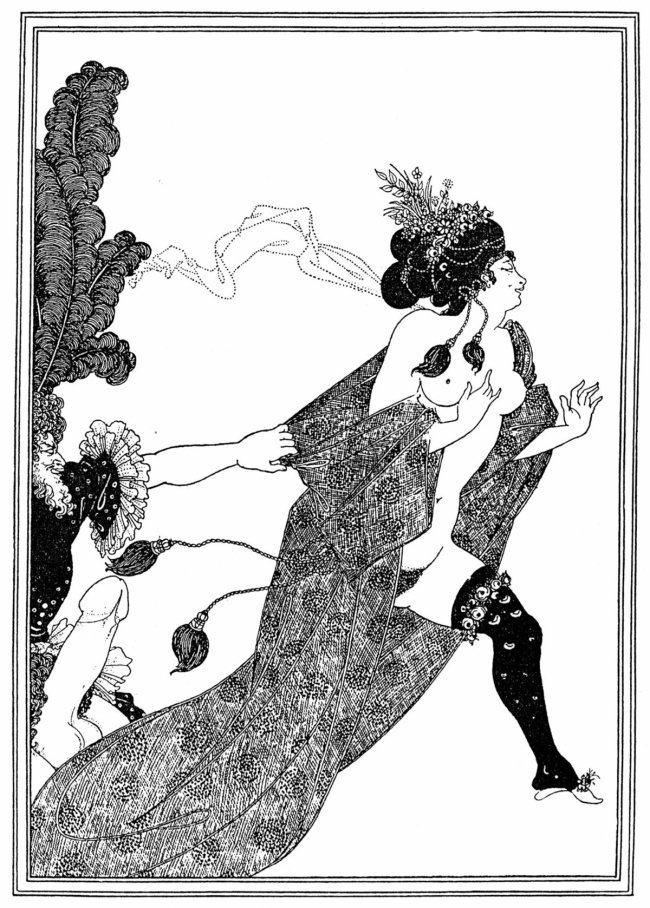 Aubrey Beardsley (British, 1872-1898) 'Cinesias Entreating Myrrhina to Coition' 1896