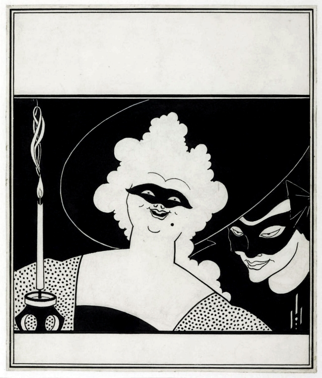 Aubrey Beardsley (British, 1872-1898) 'Cover Design for 'The Yellow Book'' Vol.I 1894