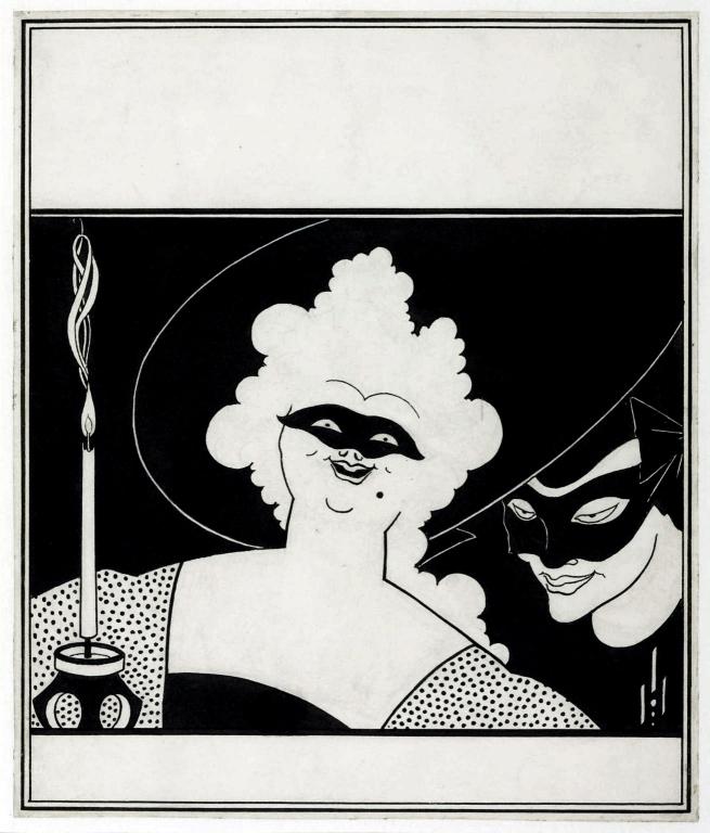 Aubrey Beardsley (British, 1872-1898) 'Cover Design for 'The Yellow Book'' Vol.I 1894