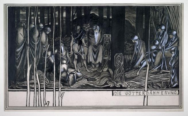 Aubrey Beardsley (British, 1872-98) 'Die Götterdämmerung' 1892