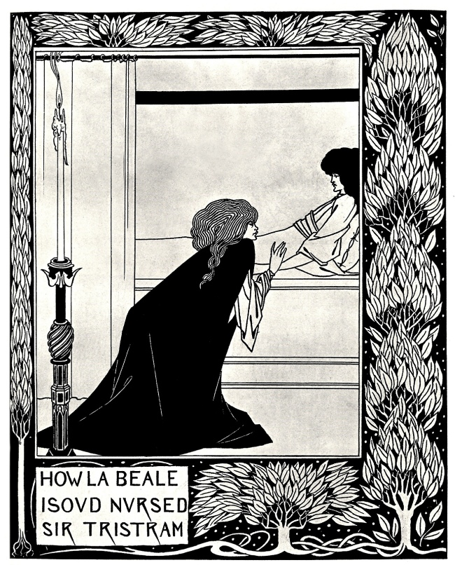 Aubrey Beardsley (British, 1872-98) 'How La Beale Isoud Nursed Sir Tristram' 1893