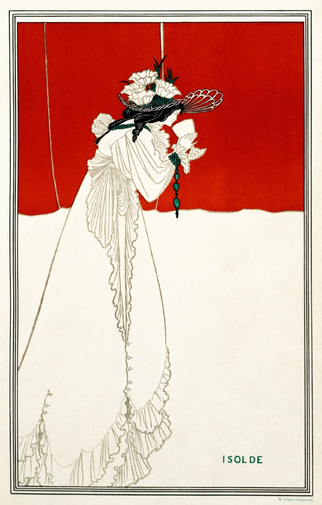 Aubrey Beardsley (British, 1872-1898) 'Isolde' Printed 1899