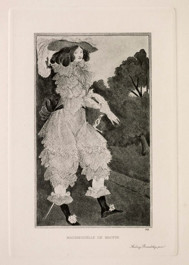Aubrey Beardsley (British, 1872-1898) 'Mademoiselle de Maupin' 1898