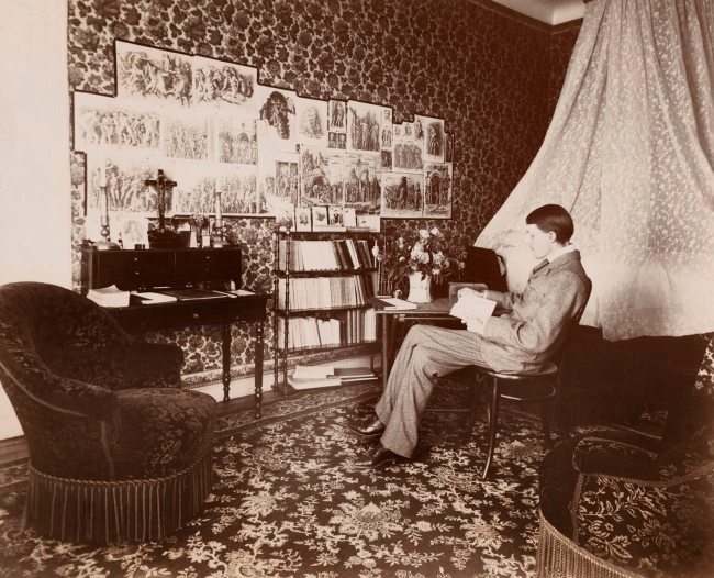 Monsieur Abel. 'Aubrey Beardsley in the room in which he died, Hôtel Cosmopolitain, Menton' 1897