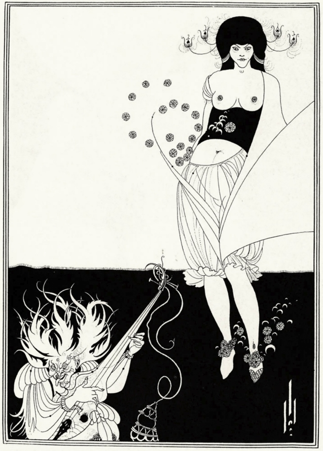 Aubrey Beardsley (British, 1872-1898) 'The Stomach Dance' 1893