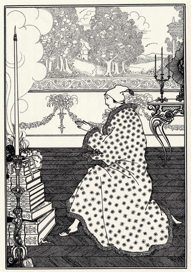 Aubrey Beardsley (British, 1872-1898 'The Baron's Prayer' 1896