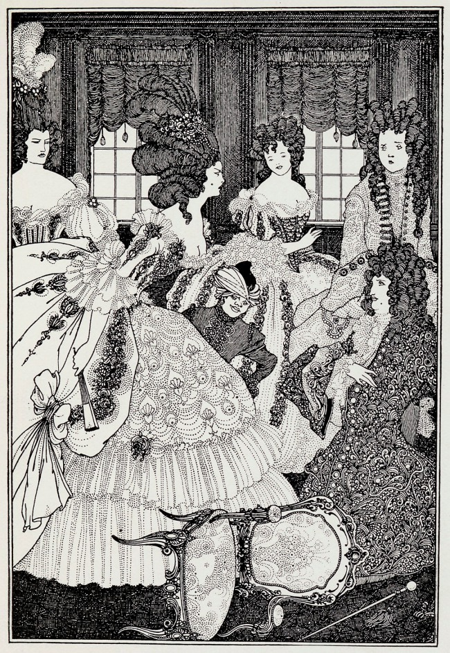 Aubrey Beardsley (British, 1872-1898) 'The Battle of the Beaux and the Belles' c. 1896