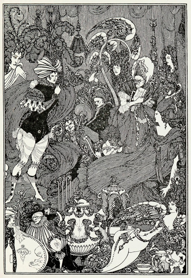 Aubrey Beardsley (British, 1872-1898) 'The Cave of Spleen' 1896