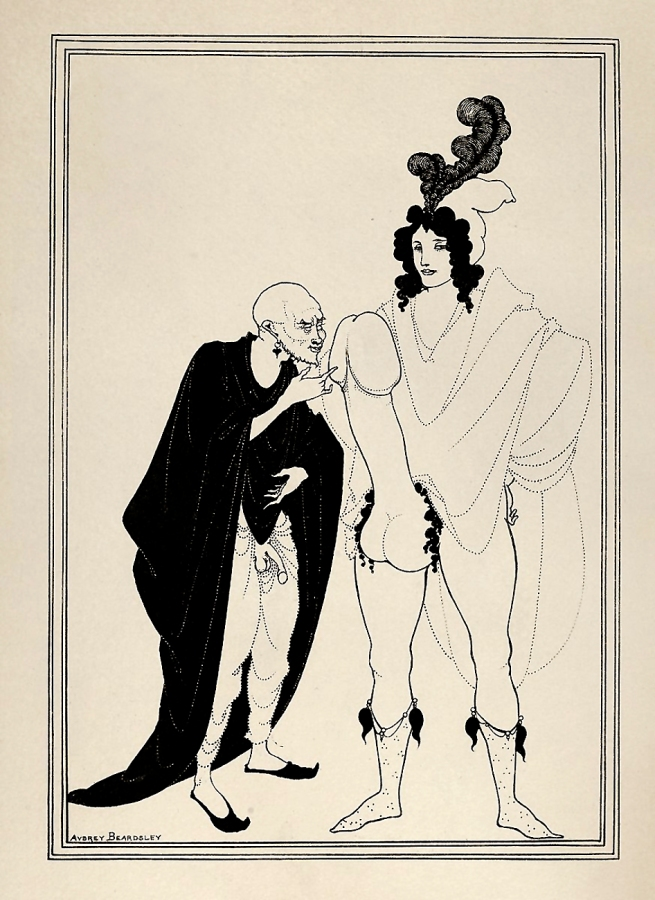 Aubrey Beardsley (British, 1872-1898) 'The Examination of the Herald' 1896