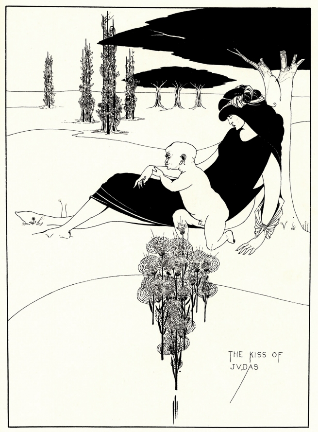 Aubrey Beardsley (British, 1872-1898) 'The Kiss of Judas' 1893