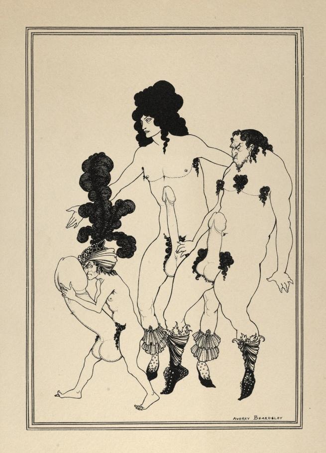 Aubrey Beardsley (British, 1872-1898) 'The Lacedaemonian Ambassadors' 1896