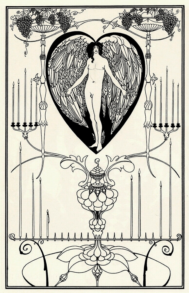 Aubrey Beardsley (British, 1872-1898) 'The Mirror of Love' 1895
