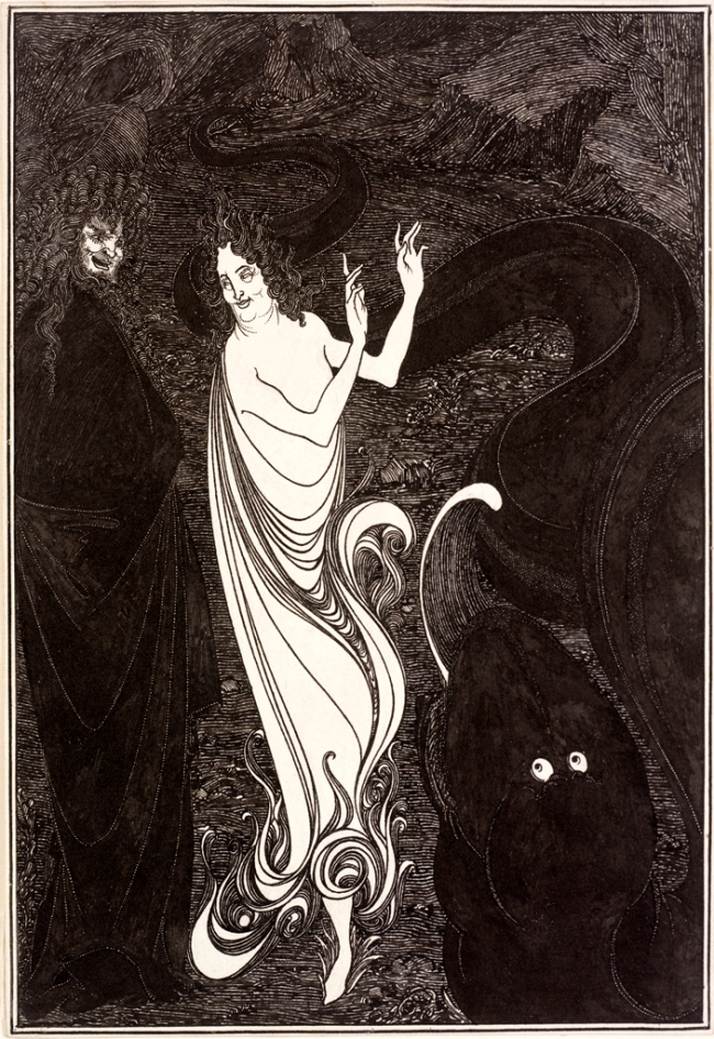 Aubrey Beardsley (British, 1872-1898) 'Third Tableau of Das Rheingold' c. 1896