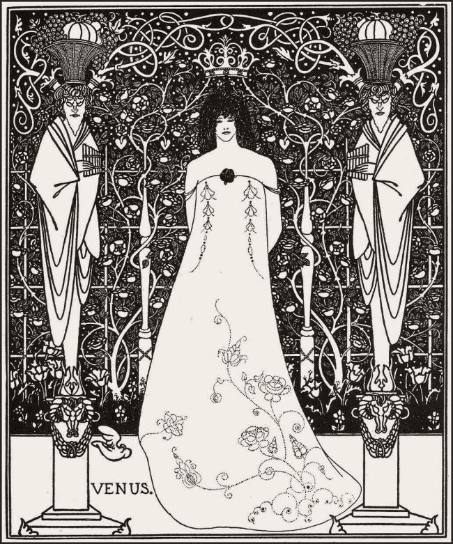 Aubrey Beardsley (British, 1872-1898) 'Venus between Terminal Gods' 1895