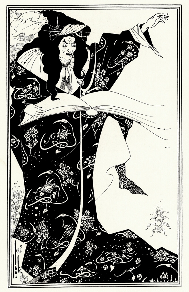 Aubrey Beardsley (British, 1872-98) Design for a Frontispiece to 'Virgilius the Sorcerer' c. 1893