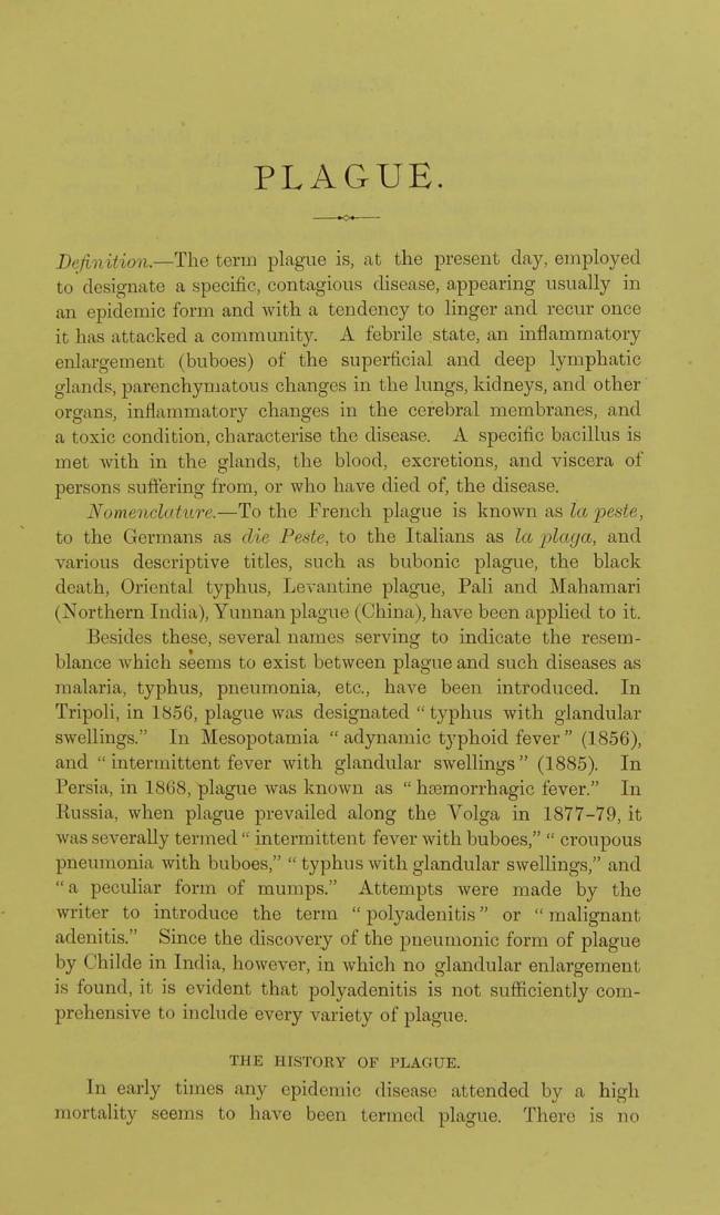 James Cantlie. 'How To Recognise, Prevent and Treat Plague' 1900 p. 5