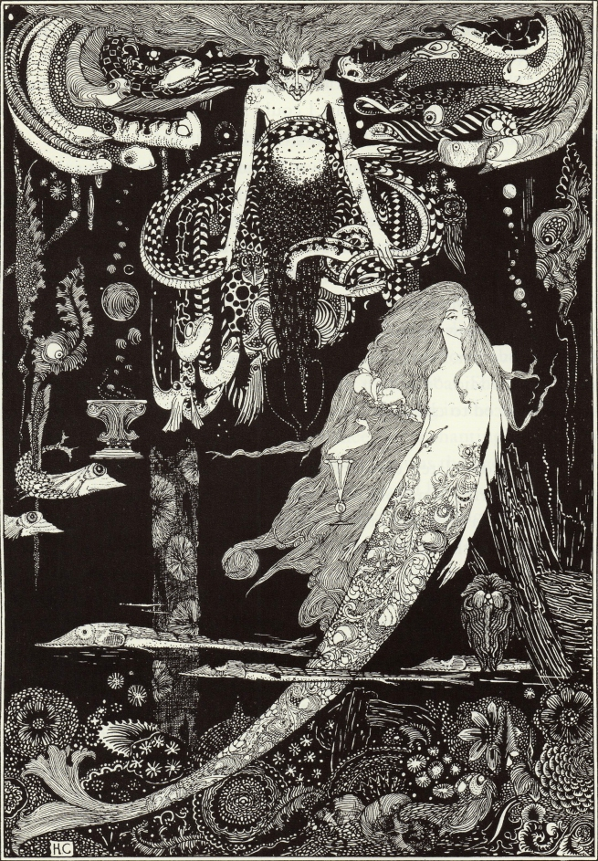 Harry Clarke (Irish, 1889-1931) ''I know what you want,' said the Sea Witch' 1916