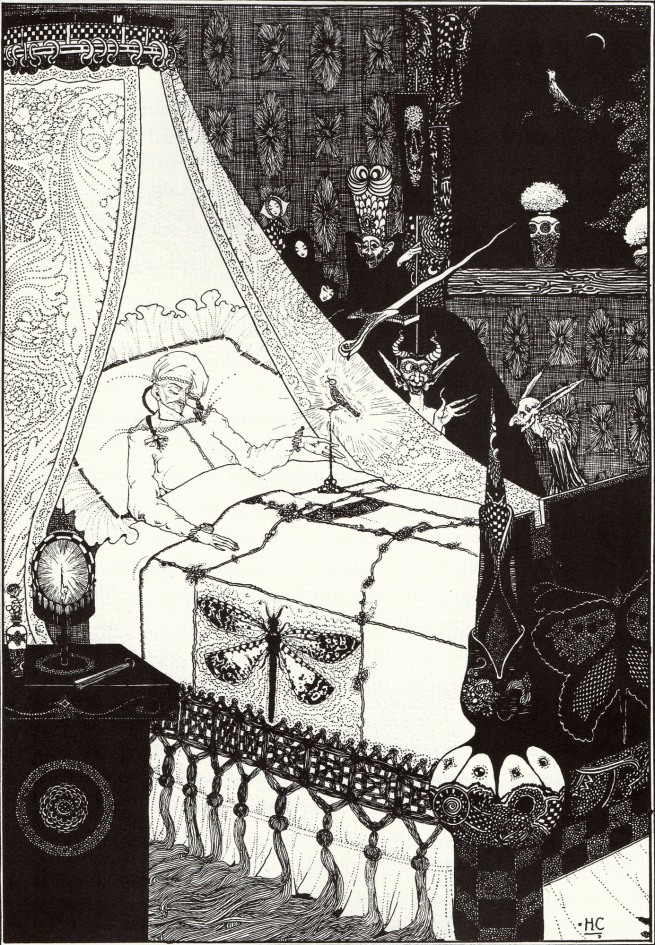Harry Clarke (Irish, 1889-1931) ''Music! Music' cried the Emperor. 'You little precious golden bird, sing!'' 1916