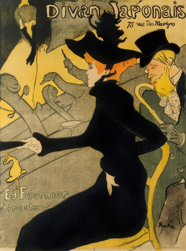 Henri de Toulouse-Lautrec (French, 1864-1901) Divan Japonais 1892
