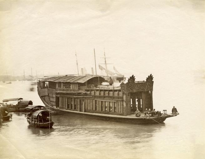 Lai Fong (Chinese, c. 1839-1890) '[Flower boat, Guangzhou]' 1870s