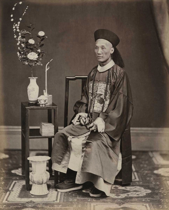 Lai Fong (Chinese, 1839-1890) 'Portrait of an Official' 1870s