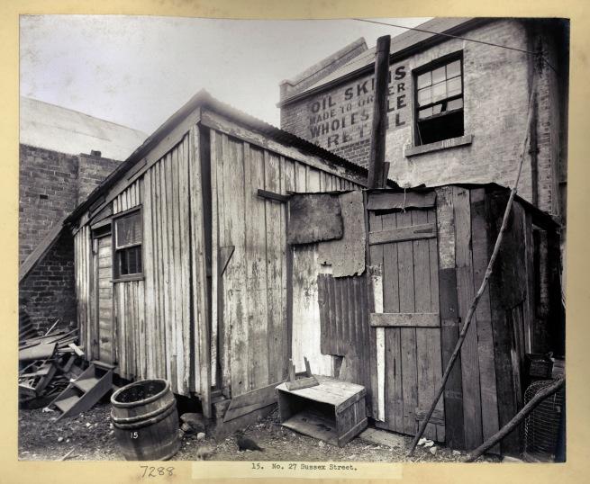 John Degotardi Jr. (Australian, 1860-1937) '15. No. 27 Sussex Street, Barangaroo, Sydney' 1900