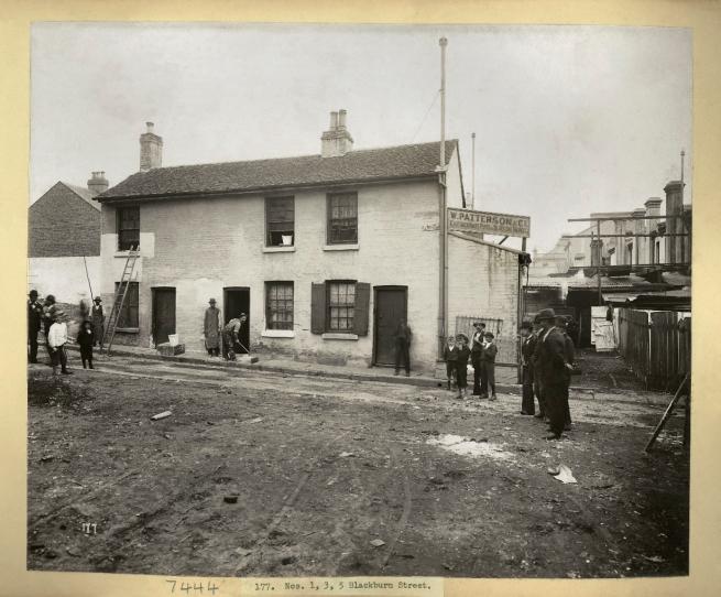 John Degotardi Jr. (Australian, 1860-1937) '177. Nos. 1, 3, 5 Blackburn Street' 1900