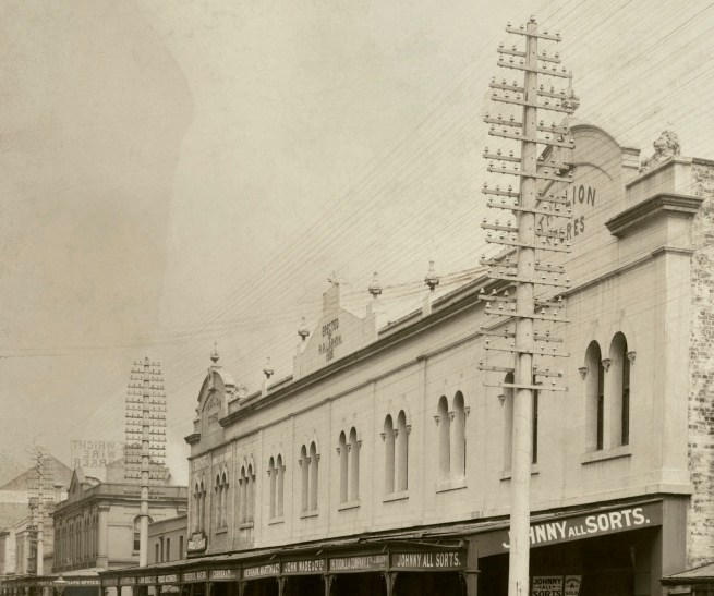John Degotardi Jr. (Australian, 1860-1937) '69. Nos. 223, 225 Sussex Street, Sydney' 1900 (detail)