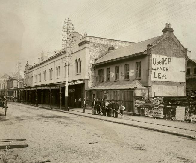 John Degotardi Jr. (Australian, 1860-1937) '69. Nos. 223, 225 Sussex Street, Sydney' 1900