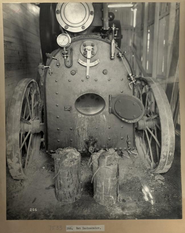 John Degotardi Jr. (Australian, 1860-1937) '266. Rat Incinerator' 1900