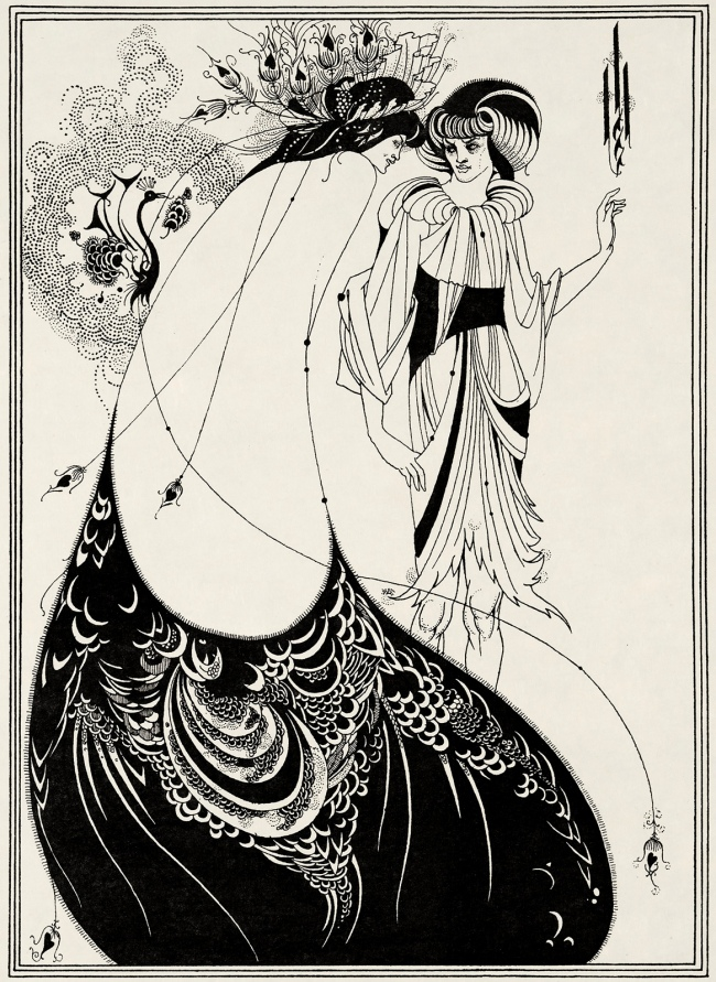 Aubrey Beardsley (British, 1872-1898) 'The Peacock Skirt' 1893