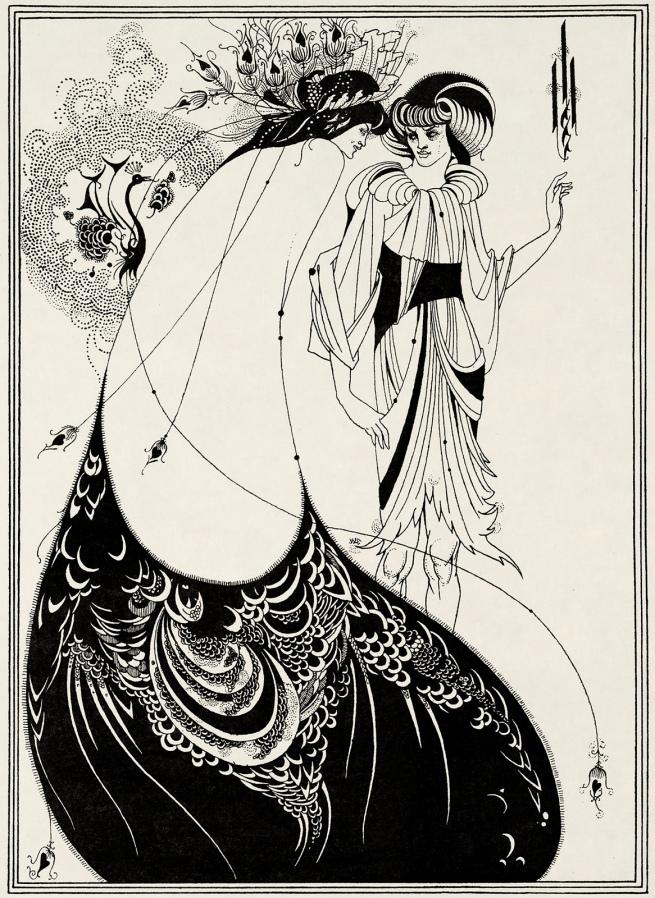 Aubrey Beardsley (British, 1872-1898) 'The Peacock Skirt' 1893