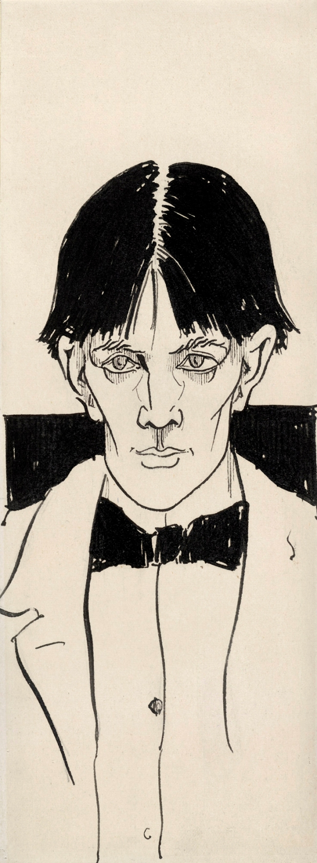 Aubrey Beardsley (British, 1872-98) 'Self-portrait' 1892