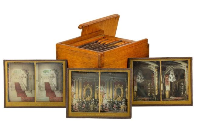 T. SCHNEIDER & SONS (1847-1921) A Portfolio of hand tinted Stereo Daguerrotypes c. 1860