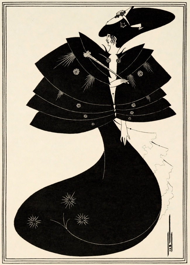Aubrey Beardsley (British, 1872-1898) 'The Black Cape' 1893