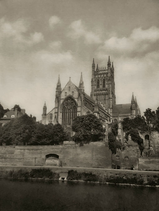 E. O. Hoppé (British, born Germany 1878-1972) 'Worcester Cathedral' 1926