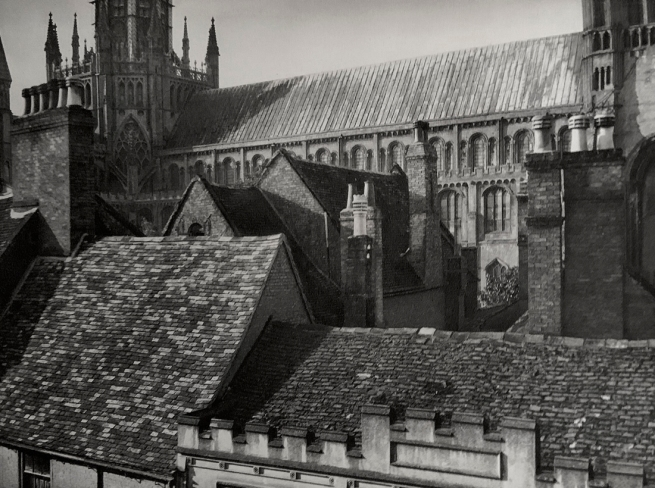 E. O. Hoppé (British, born Germany 1878-1972) 'Housetops, Cathedral Close, Ely, Cambridgeshire' 1926