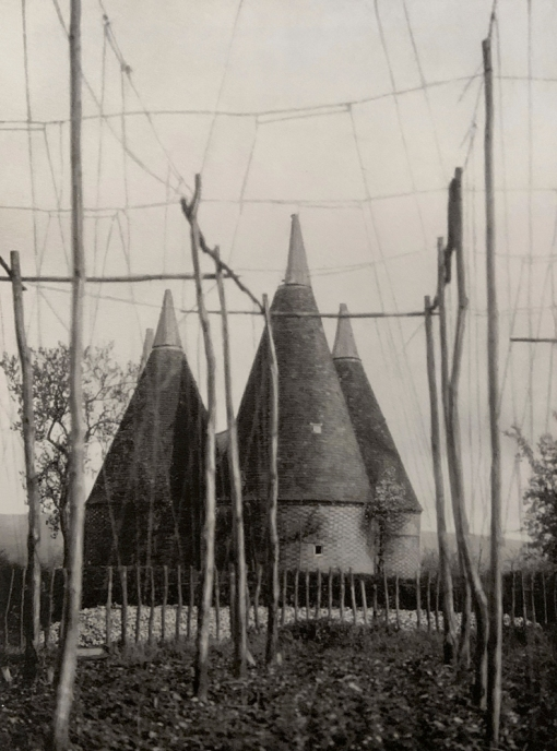 E. O. Hoppé (British, born Germany 1878-1972) 'Hop Poles & Oast Houses, Kent' 1926