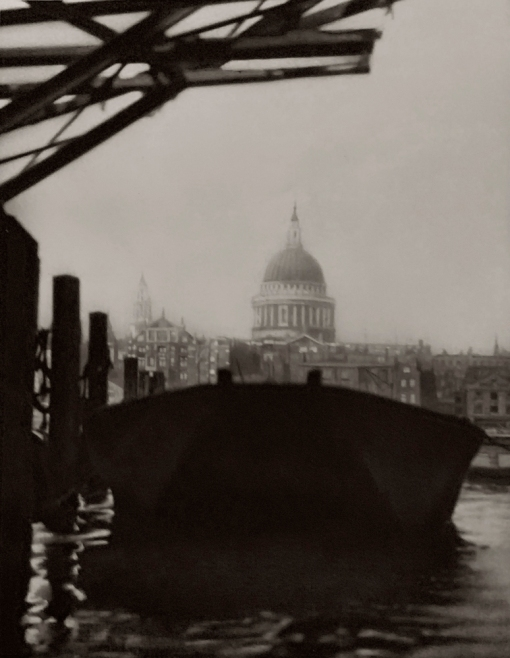 E. O. Hoppé (British, born Germany 1878-1972) 'St. Paul's Cathedral from the Bankside, London' 1926