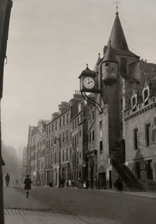 E. O. Hoppé (British, born Germany 1878-1972) 'Canongate with Tolbooth, Edinburgh, Scotland' 1926