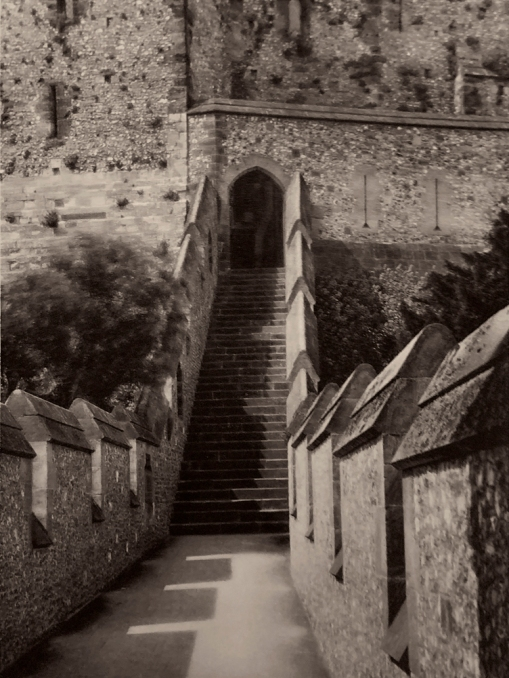 E. O. Hoppé (British, born Germany 1878-1972) 'Entrance to Keep, Arundel Castle, Sussex' 1926