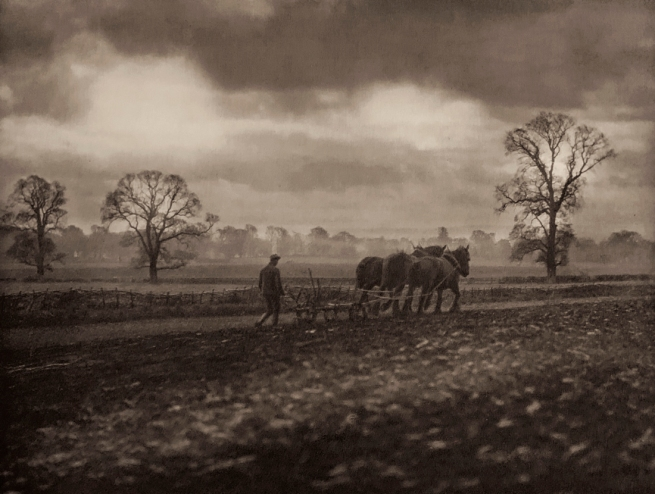 E. O. Hoppé (British, born Germany 1878-1972) 'Ploughing, Hampshire' 1926