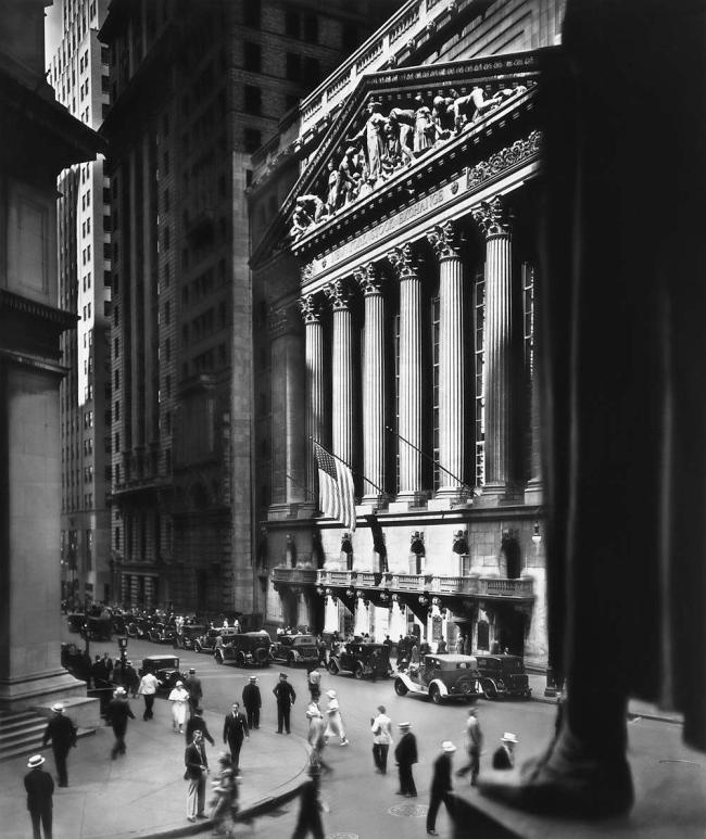 Berenice Abbott (American, 1898-1991) 'New York Stock Exchange' 1933
