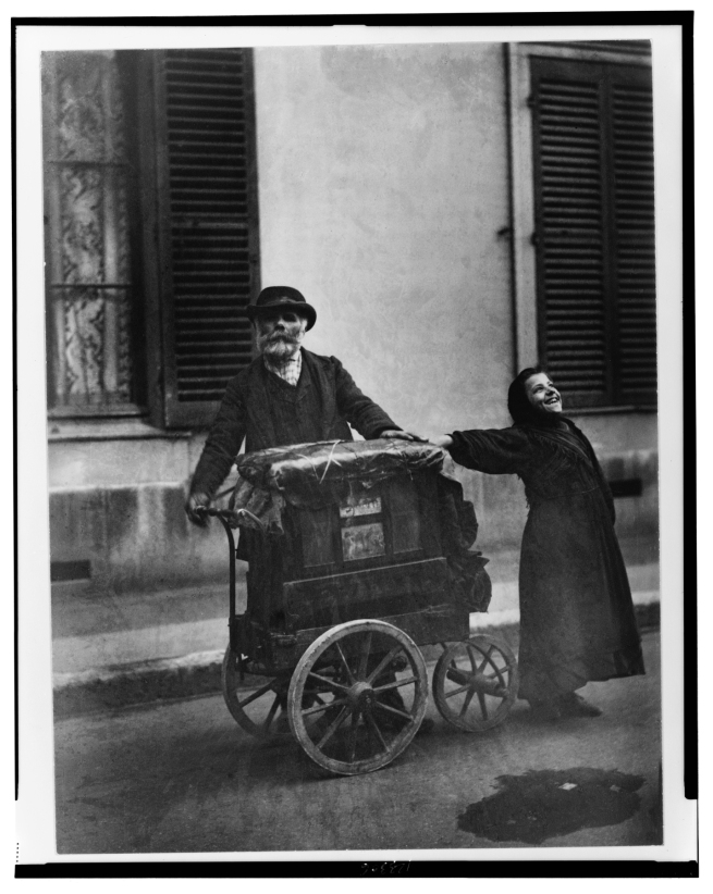 Eugène Atget (French, 1857-1927) 'Street diversions (or B organ)' 1898-99