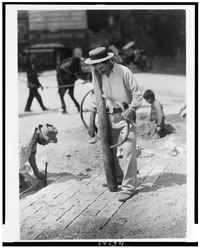 Eugène Atget (French, 1857-1927) 'Street Pavers' 1899-1900
