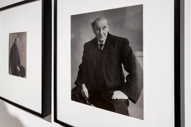 Installation view of the exhibition 'Berenice Abbott: Portraits of Modernity' at Huis Marseille, Amsterdam showing Abbott's photographs of Eugène Atget