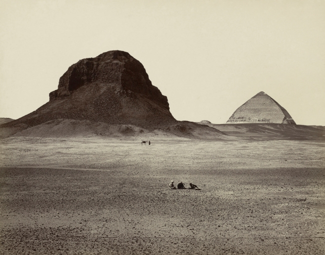 Francis Frith (British, 1822-98) 'The Pyramids of Dahshoor [Dahshur], from the East, from Egypt, Sinai, and Jerusalem: A Series of Twenty Photographic Views by Francis Frith' 1858 (published 1860 or 1862)
