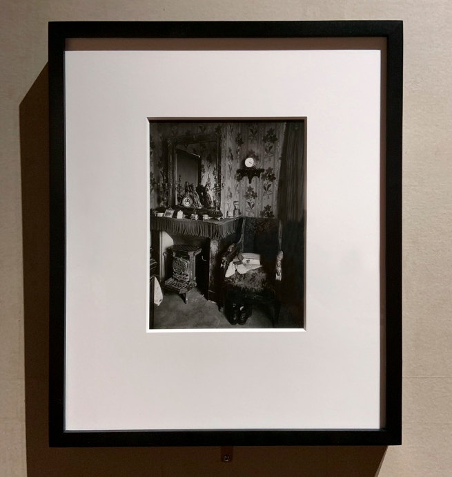 Eugène Atget (French, 1857-1927) 'Interior of a worker's room, Rue de Romainville, 19th arr.' c. 1910 (installation view)
