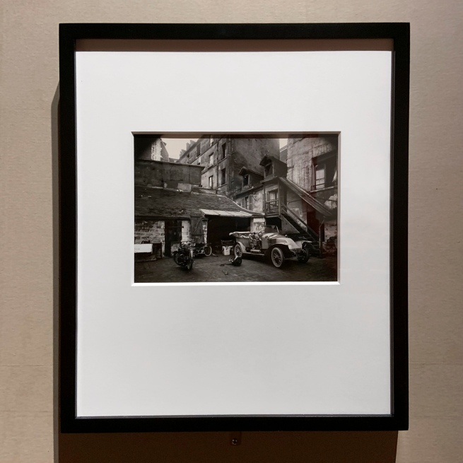 Eugène Atget (French, 1857-1927) 'Courtyard, 7 Rue de Valence, 5th arr.' June 1922(installation view)